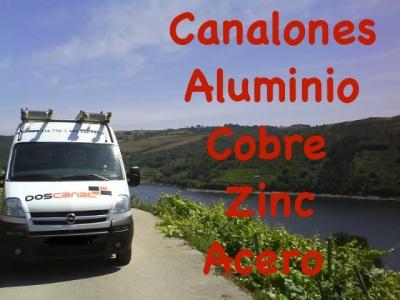 Canalones de aluminio, cobre, zinc